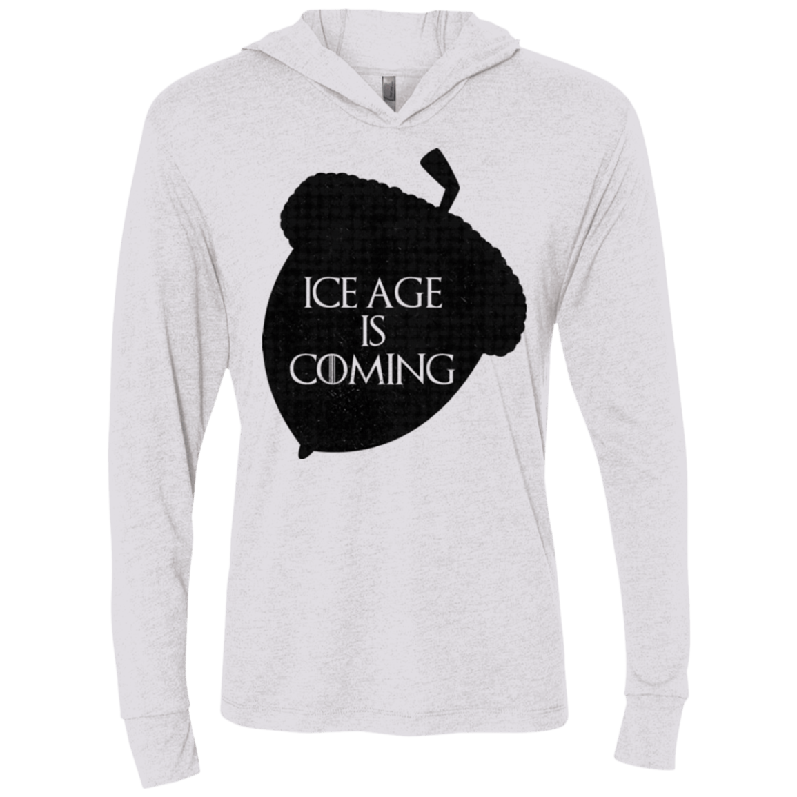 Ice coming Triblend Long Sleeve Hoodie Tee