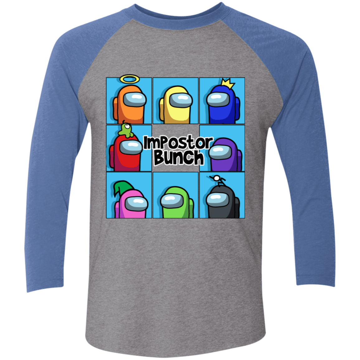 T-Shirts Premium Heather/Vintage Royal / X-Small Imposter Bunch Men's Triblend 3/4 Sleeve