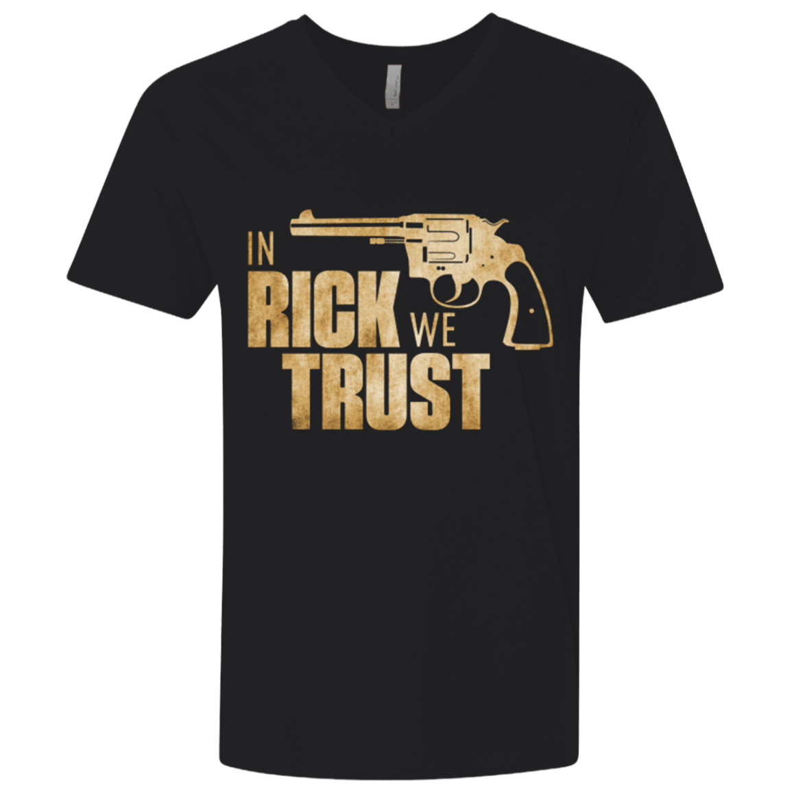 In Rick We Trust Men's Premium V-Neck