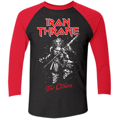 T-Shirts Vintage Black/Vintage Red / X-Small Iron Throne Men's Triblend 3/4 Sleeve