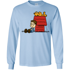 T-Shirts Light Blue / YS Jon Brown Youth Long Sleeve T-Shirt