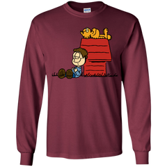 T-Shirts Maroon / YS Jon Brown Youth Long Sleeve T-Shirt