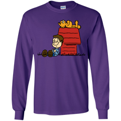 T-Shirts Purple / YS Jon Brown Youth Long Sleeve T-Shirt