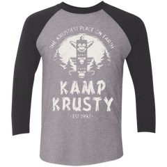T-Shirts Premium Heather/ Vintage Black / X-Small Kamp Krusty (1) Men's Triblend 3/4 Sleeve
