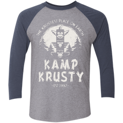 T-Shirts Premium Heather/ Vintage Navy / X-Small Kamp Krusty (1) Men's Triblend 3/4 Sleeve