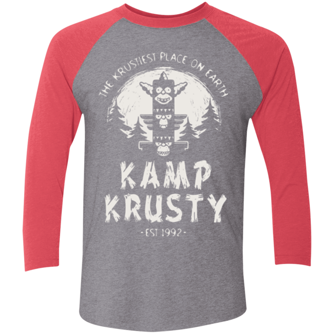 T-Shirts Premium Heather/ Vintage Red / X-Small Kamp Krusty (1) Men's Triblend 3/4 Sleeve