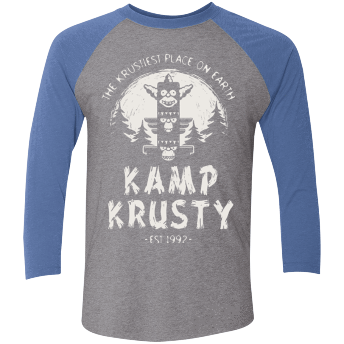 T-Shirts Premium Heather/ Vintage Royal / X-Small Kamp Krusty (1) Men's Triblend 3/4 Sleeve