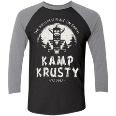 T-Shirts Vintage Black/Premium Heather / X-Small Kamp Krusty (1) Men's Triblend 3/4 Sleeve