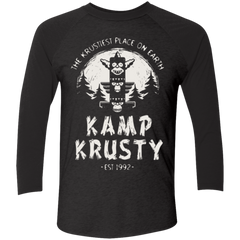 T-Shirts Vintage Black/Vintage Black / X-Small Kamp Krusty (1) Men's Triblend 3/4 Sleeve