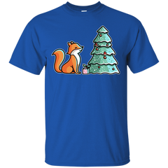 T-Shirts Royal / S Kawaii Cute Christmas Fox T-Shirt