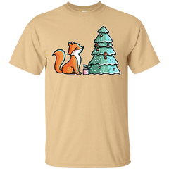 T-Shirts Vegas Gold / S Kawaii Cute Christmas Fox T-Shirt