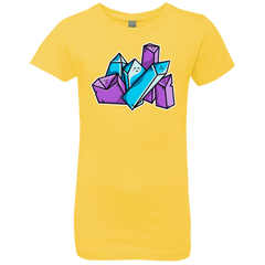 T-Shirts Vibrant Yellow / YXS Kawaii Cute Crystals Girls Premium T-Shirt