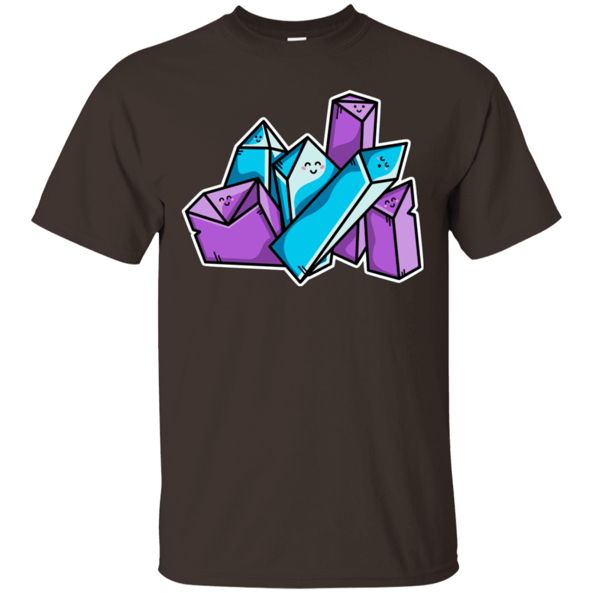 T-Shirts Dark Chocolate / S Kawaii Cute Crystals T-Shirt