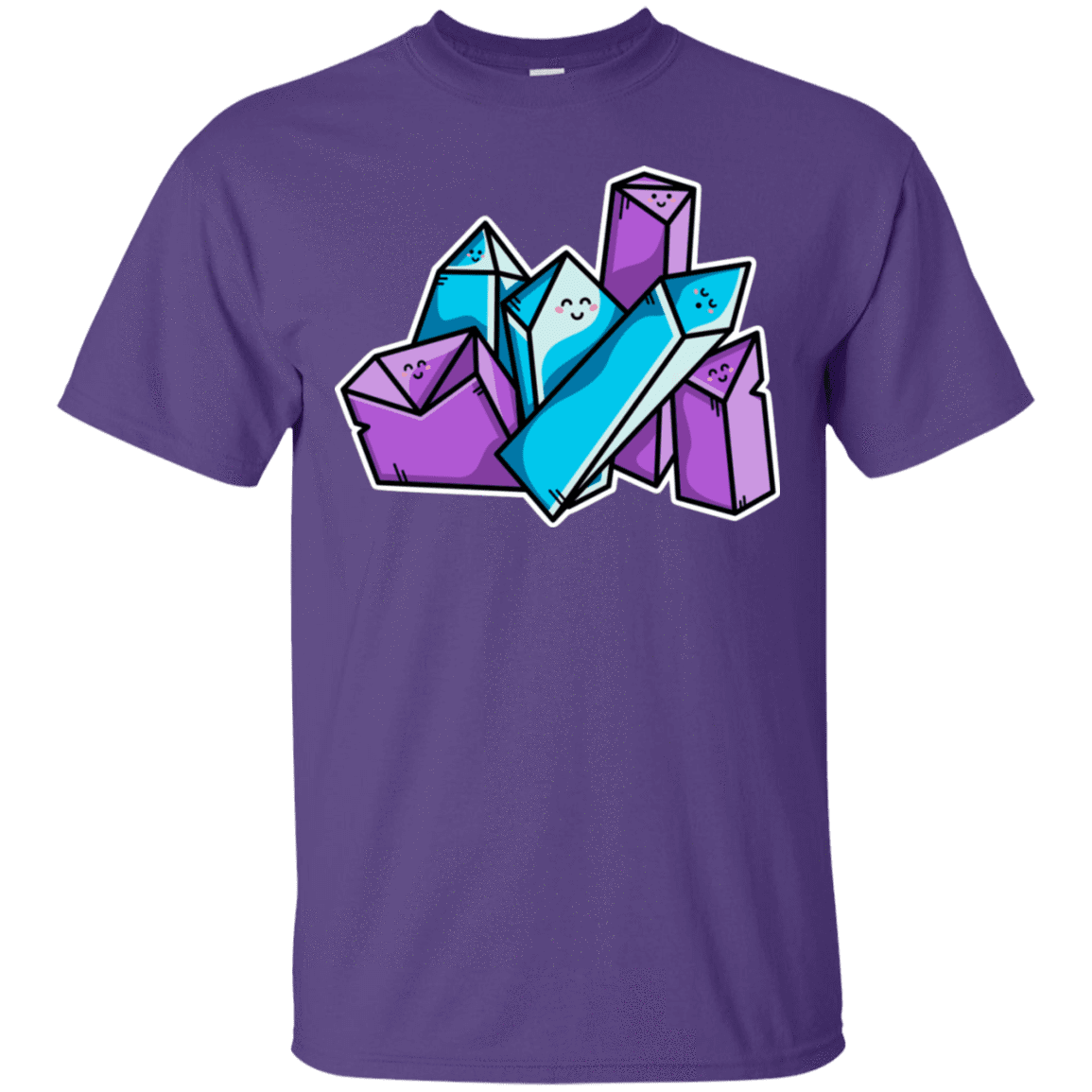 T-Shirts Purple / S Kawaii Cute Crystals T-Shirt