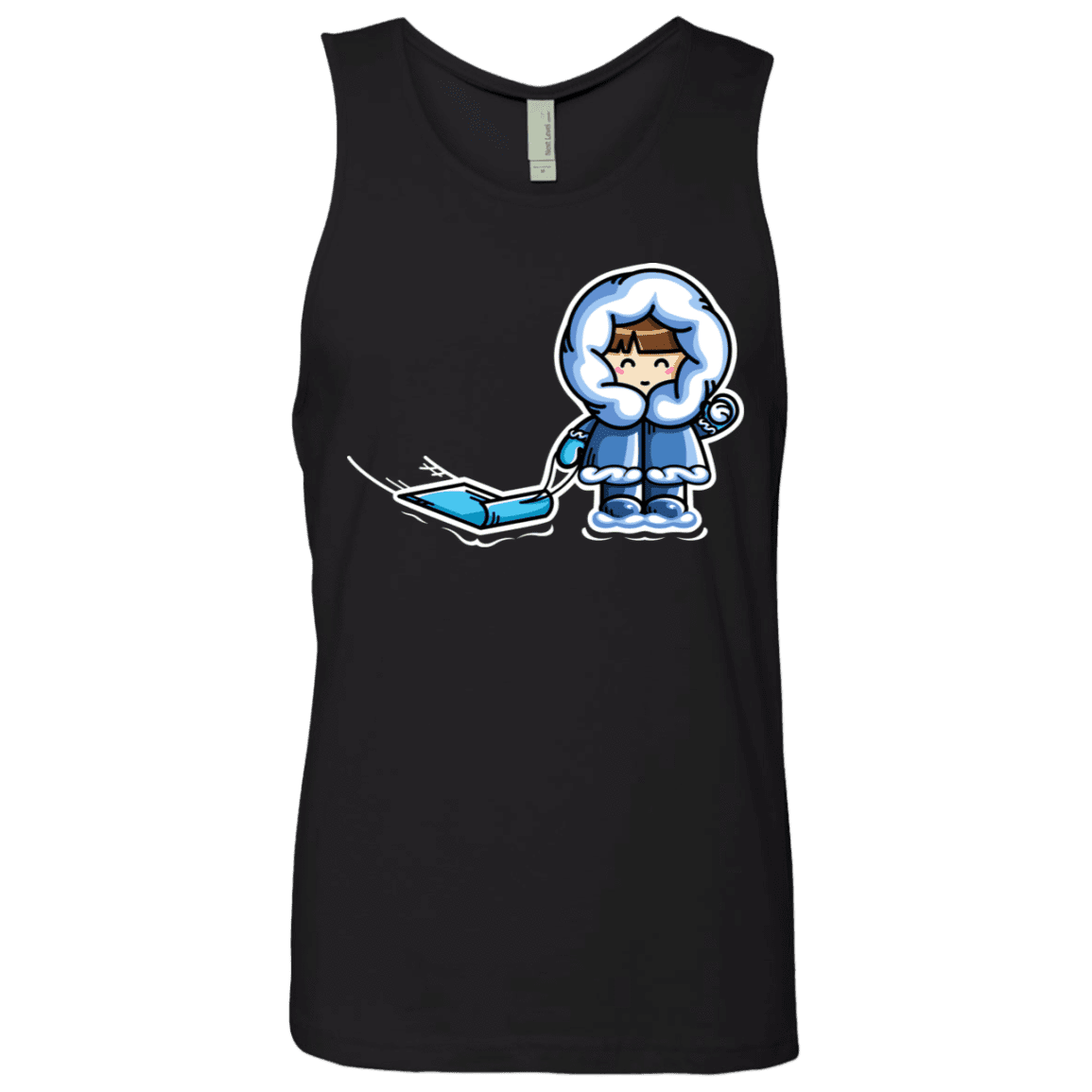 T-Shirts Black / S Kawaii Cute Fun In The Snow Men's Premium Tank Top