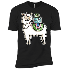 T-Shirts Black / YXS Kawaii Cute Llama Carrying Presents Boys Premium T-Shirt