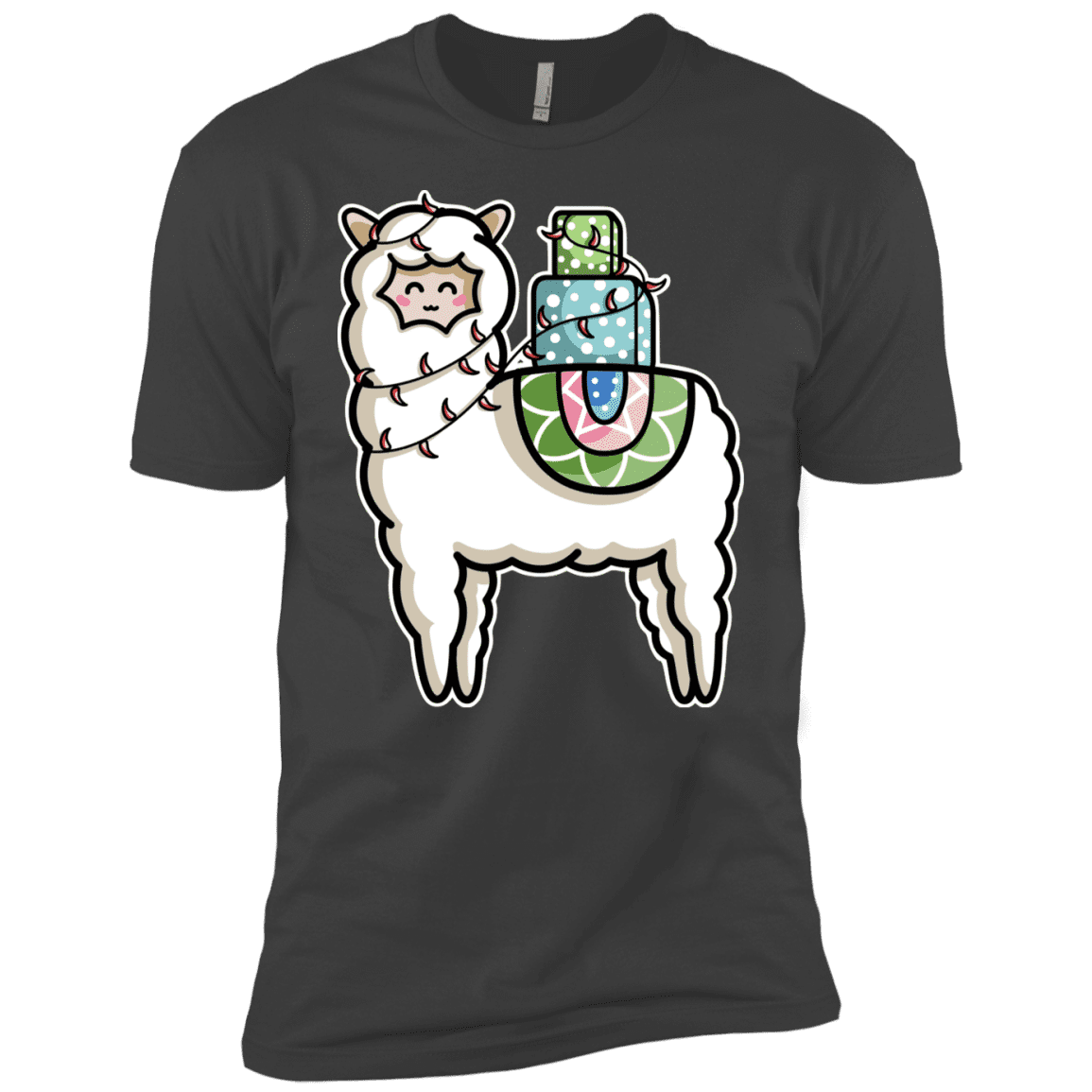 T-Shirts Heavy Metal / YXS Kawaii Cute Llama Carrying Presents Boys Premium T-Shirt