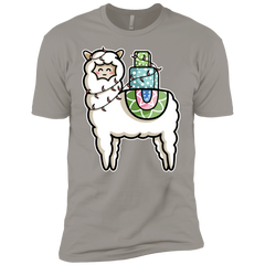 T-Shirts Light Grey / YXS Kawaii Cute Llama Carrying Presents Boys Premium T-Shirt