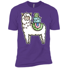 Kawaii Cute Llama Carrying Presents Boys Premium T-Shirt