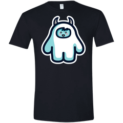 T-Shirts Black / X-Small Kawaii Cute Yeti Men's Semi-Fitted Softstyle