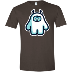 T-Shirts Dark Chocolate / S Kawaii Cute Yeti Men's Semi-Fitted Softstyle