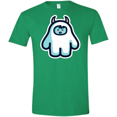 T-Shirts Heather Irish Green / M Kawaii Cute Yeti Men's Semi-Fitted Softstyle