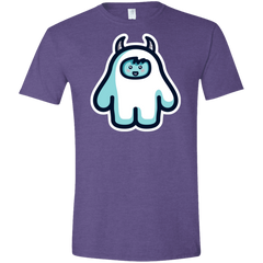 T-Shirts Heather Purple / S Kawaii Cute Yeti Men's Semi-Fitted Softstyle