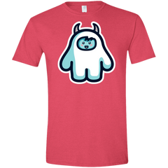 T-Shirts Heather Red / S Kawaii Cute Yeti Men's Semi-Fitted Softstyle