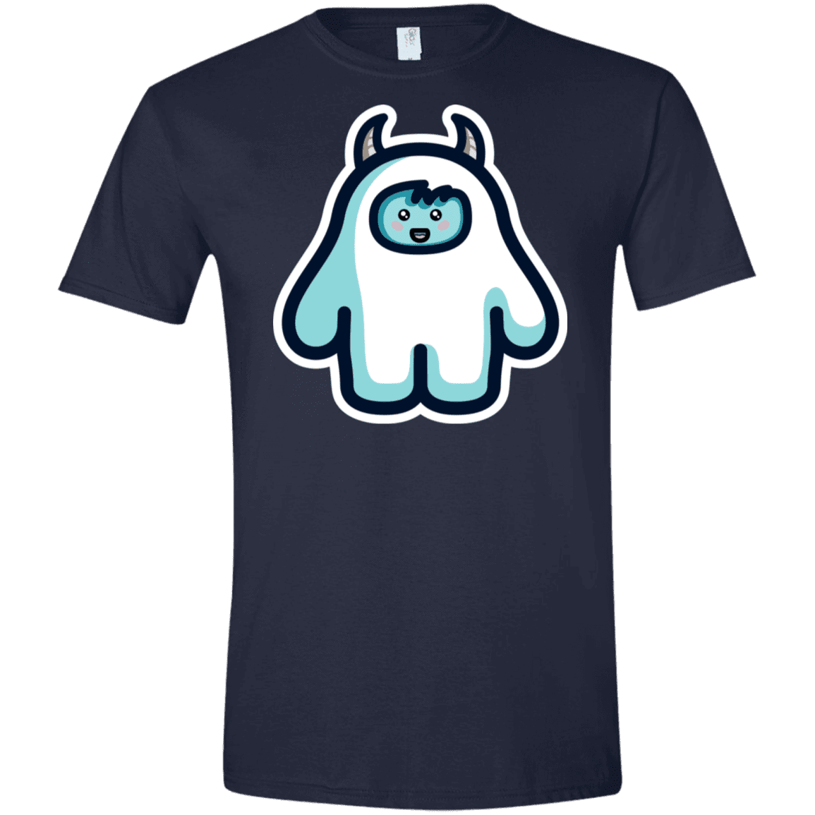 T-Shirts Navy / X-Small Kawaii Cute Yeti Men's Semi-Fitted Softstyle