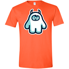 T-Shirts Orange / S Kawaii Cute Yeti Men's Semi-Fitted Softstyle