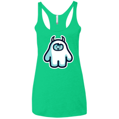 T-Shirts Envy / X-Small Kawaii Cute Yeti Women's Triblend Racerback Tank