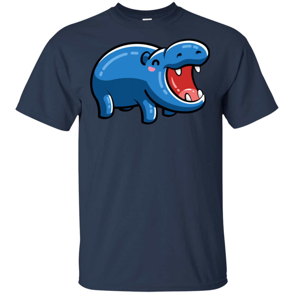 Kawaii Happy Hippo T-Shirt