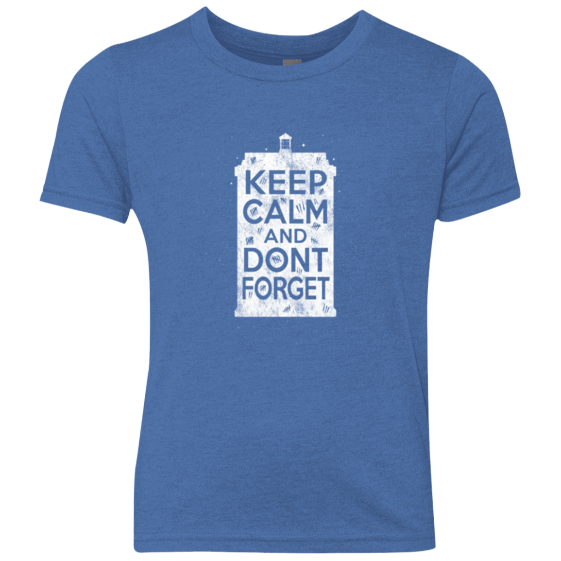 T-Shirts Vintage Royal / YXS KCDF Tardis Youth Triblend T-Shirt