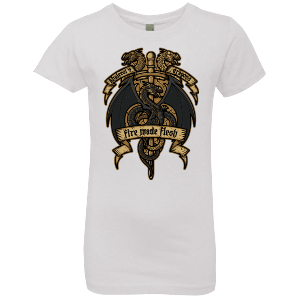 T-Shirts White / YXS KHALEESIS DRAGONS Girls Premium T-Shirt