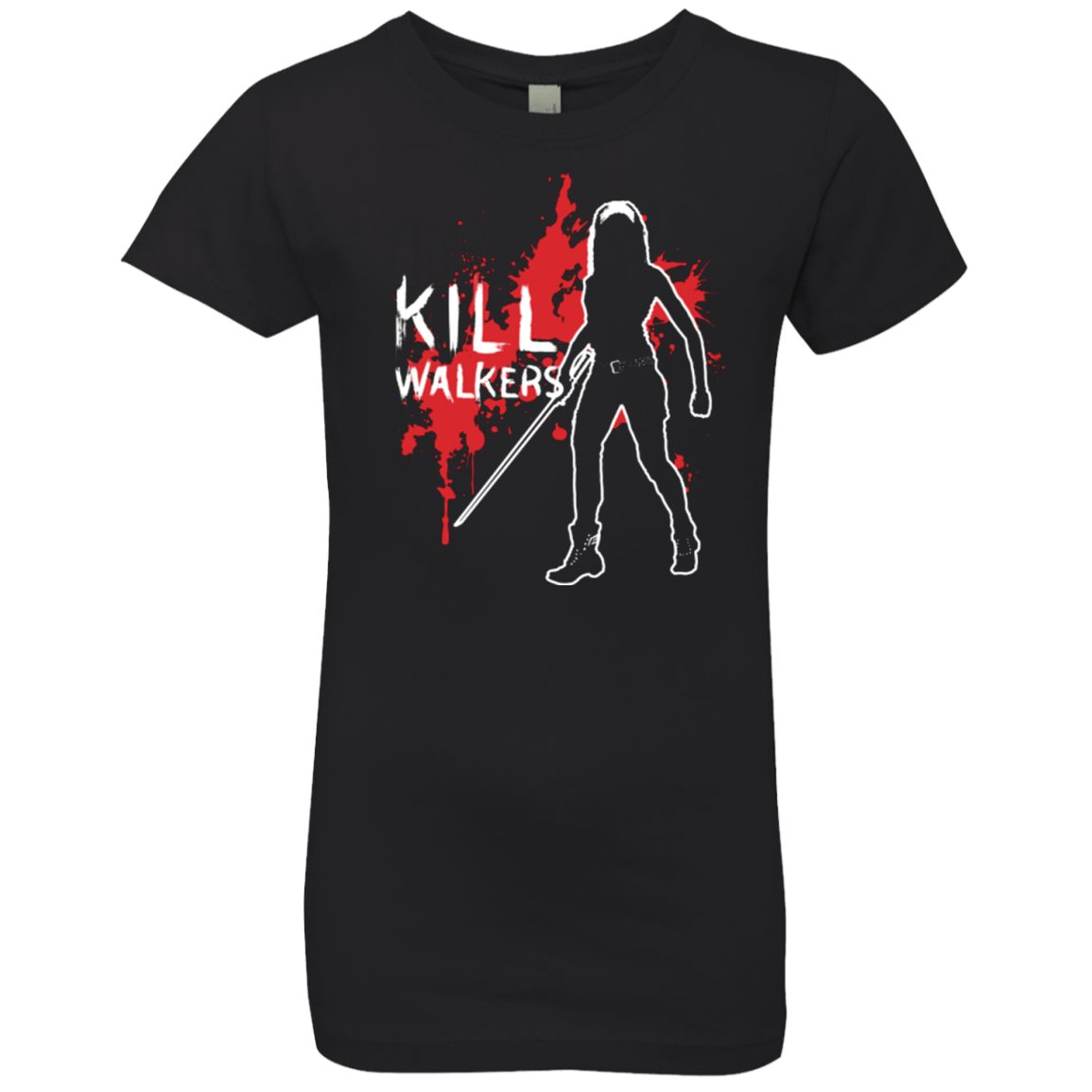 T-Shirts Black / YXS Kill Walkers (sword) Girls Premium T-Shirt