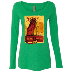 T-Shirts Envy / Small LE CHAT ROUGE Women's Triblend Long Sleeve Shirt