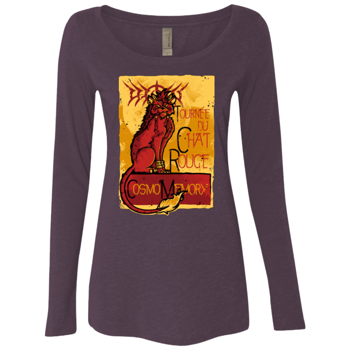 T-Shirts Vintage Purple / Small LE CHAT ROUGE Women's Triblend Long Sleeve Shirt