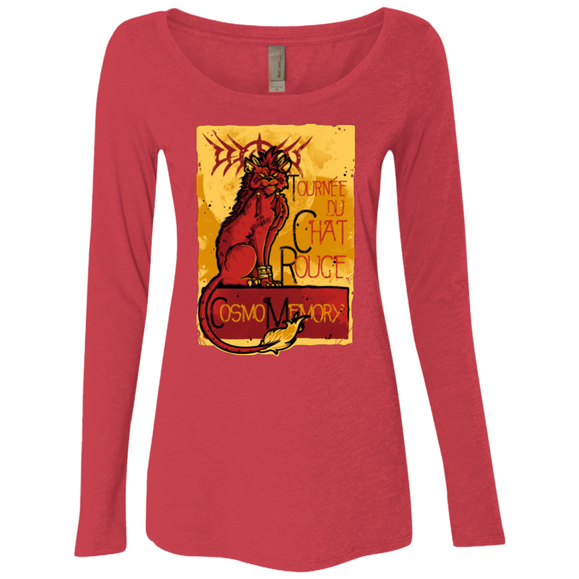T-Shirts Vintage Red / Small LE CHAT ROUGE Women's Triblend Long Sleeve Shirt