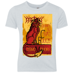 T-Shirts Heather White / YXS LE CHAT ROUGE Youth Triblend T-Shirt