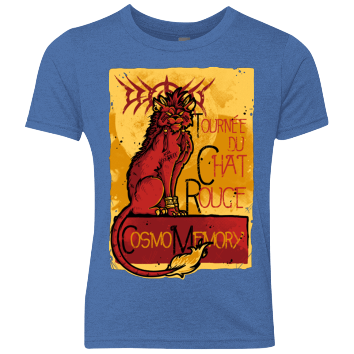 T-Shirts Vintage Royal / YXS LE CHAT ROUGE Youth Triblend T-Shirt