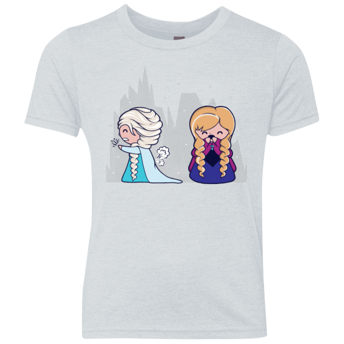 T-Shirts Heather White / YXS Let it Go fart Youth Triblend T-Shirt