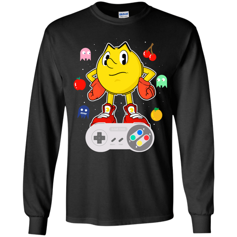 T-Shirts Black / YS Lever Pac-Man Youth Long Sleeve T-Shirt