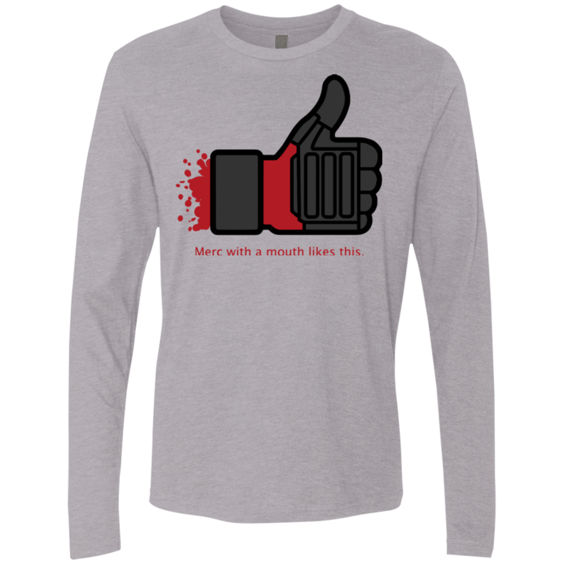 T-Shirts Heather Grey / Small Like Merc Men's Premium Long Sleeve