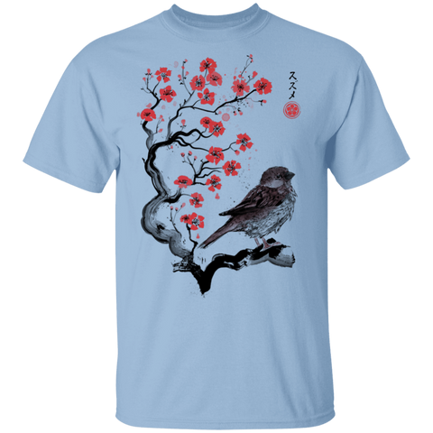 Little Sparrow sumi-e T-Shirt