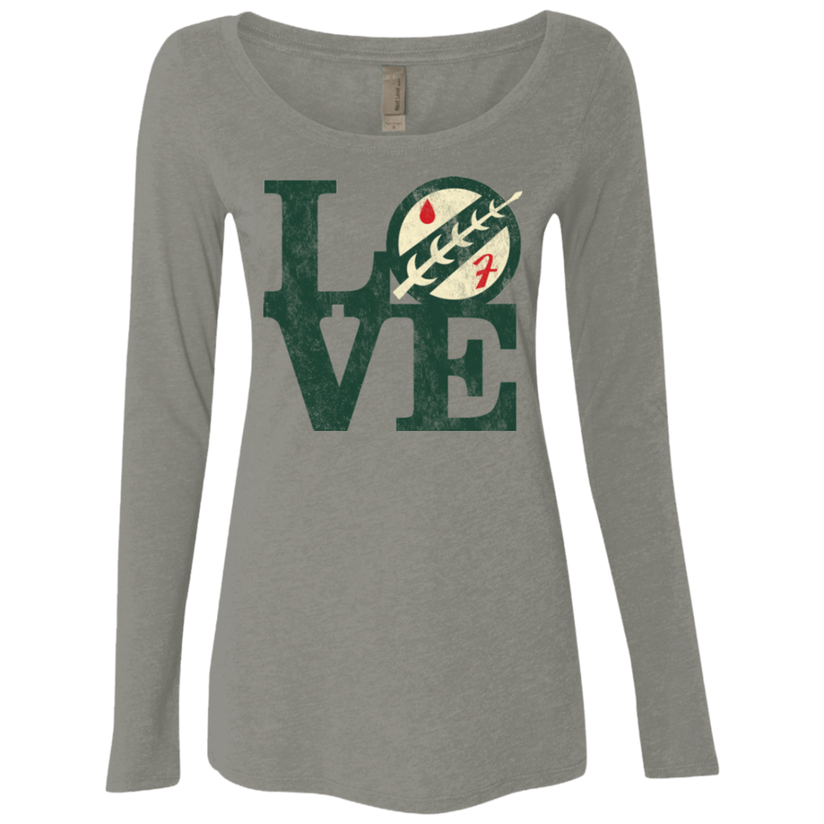 T-Shirts Venetian Grey / Small LOVE Boba Women's Triblend Long Sleeve Shirt