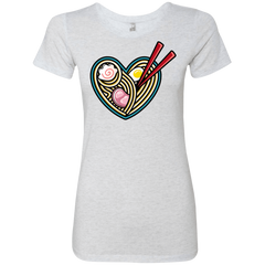 T-Shirts Heather White / S Love Ramen Women's Triblend T-Shirt