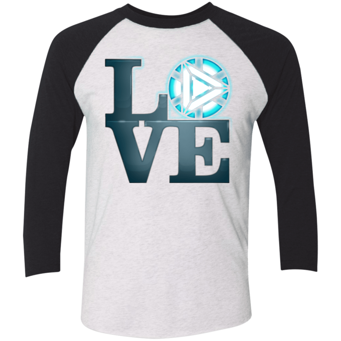 T-Shirts Heather White/Vintage Black / X-Small Love Stark Men's Triblend 3/4 Sleeve