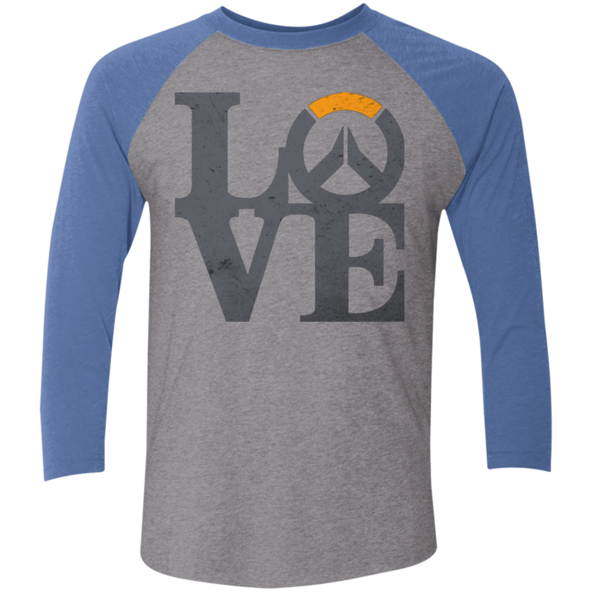 Loverwatch Men's Triblend 3/4 Sleeve