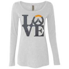 T-Shirts Heather White / Small Loverwatch Women's Triblend Long Sleeve Shirt