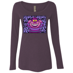 T-Shirts Vintage Purple / Small Mad Cat Women's Triblend Long Sleeve Shirt